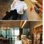เสื้อแฟชั่นคอกว้าง โชว์ไหล่ มีสีขาวและสีดำ น่ารักสไตล์เกาหลี thumbnail 3