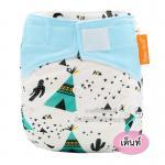 [ลายเต็นท์] กางเกงผ้าอ้อมไมโครไฟเบอร์-เยื่อไผ่ (สำหรับเด็กที่มีน้ำหนัก 3-15 กก.)
