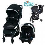 [สีดำ] Fico รถเข็นเด็ก+กระเช้าคาร์ซีท รุ่น California 4in1 [แรกเกิด-3ปี]