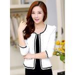 เสื้อคลุมพิธีการ สีขาว ใส่ทำงานได้สวยหวานสไตล์เกาหลี size 2XL