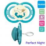 [ช้าง-ฟ้า][6เดือนขึ้นไป] จุกนมหลอก MAM รุ่น Perfect Night ป้องกันฟันหน้ายื่น
