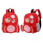 [สีแดง] กระเป๋าเป้สะพายหลัง เด็กอนุบาล ถอดกระเป๋าสะพายข้างได้
