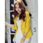 เสื้อสูทแฟชั่นผู้หญิงใส่ทำงาน สีเหลือง สไตล์เรียบหรู size XXL