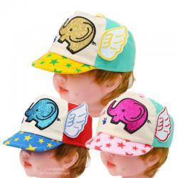 หมวกแก๊ปเด็กลายช้างติดปีก