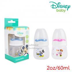 [แพ็คเดี่ยว] [2oz/60ml] Disney Baby ลาย Mickey&Minnie [ลิขสิทธิ์แท้] Feeding Bottle (จุกนม 0-3เดือน)