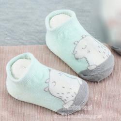 KID'S ถุงเท้าเด็กข้อสั้นลายหมีฟ้า