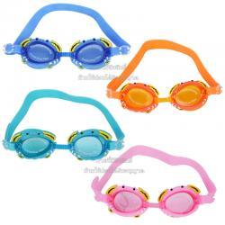 แว่นตาว่ายน้ำซิลิโคนสำหรับเด็กลายปู Free Size