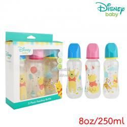 [แพ็ค3ขวด] [8oz/250] Disney Baby ขวดนมสำหรับเด็กลายมิกกี้&มินนี่ Feeding Bottle (จุกนม 6 เดือนขึ้นไป)