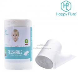 Happy Flute กระดาษรองซับฉี่ชนิดย่อยสลายได้ Flushable Diaper Liners
