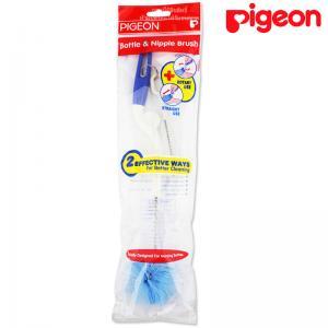Pigeon Bottle&Nipple Brush แปรงล้างขวดนมพร้อมแปรงล้างจุกแบบจับหมุน