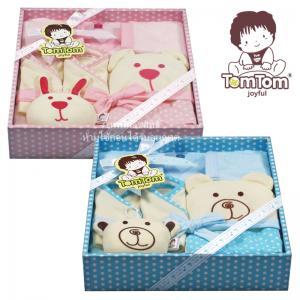 ชุดของขวัญเซตอาบน้ำ 5 ชิ้น (เด็กแรกเกิด 0-12 เดือน) TomTom joyful