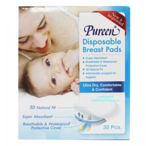 แผ่นซับน้ำนม 30 ชิ้น Pureen Disposable Breast Pads