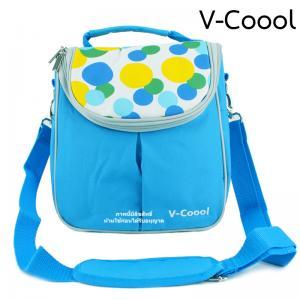 กระเป๋าเก็บอุณหภูมิทรงสูงสีฟ้า V-Coool