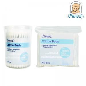 Pureen สำลีก้านอนามัย 100 ก้าน Cotton Buds