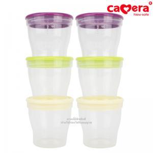 [6ใบ] ถ้วย PEER เก็บน้ำนมแม่และอาหารเสริม Camera Breast milk and nutrition keeper