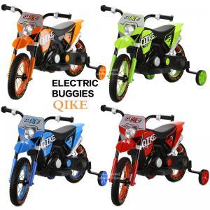 รถแบตเตอรี่เด็กมอเตอร์ไซด์วิบาก ล้อยาง Electric Buggies Qike