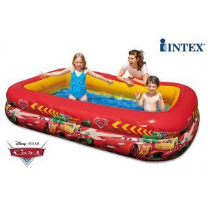 สระน้ำเป่าลม ทรงยาว 2 ชั้น ลาย Pixar Car [Intex-57478]