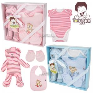 ชุดของขวัญเสื้อผ้าพร้อมตุ๊กตา 4 ชิ้น TomTom joyful (เด็กอายุ 0-6 เดือน)