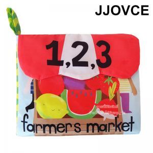JJOVCE หนังสือผ้า 123 Farmers market
