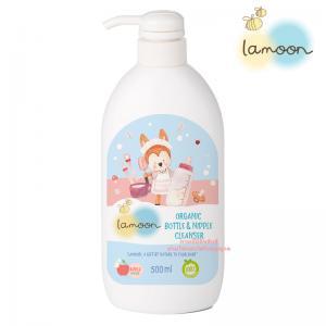 Lamoon ละมุน น้ำยาล้างขวดนม ออร์แกนิค หัวปั้ม ขนาด 500 มล. Organic Nipple & Bottle Cleanser