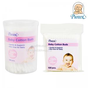 Pureen สำลีก้านจิ๋ว 100 ก้าน Baby Cotton Bud