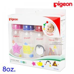 [แพค4ขวด] [240ml/8oz] Pigeon ขวดนม RPP พร้อมจุกเสมือนนมมารดา รุ่นมินิ Size M