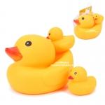 เป็ดสามพี่น้องลอยน้ำ Yellow Duck Play in the water