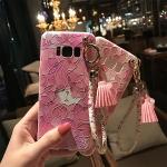 เคสมือถือ Samsung S8plus -เคสซิลิโคนนูน3D+พู่สวยงาม [Pre-Order]