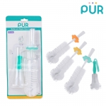 Pur แปรงล้างขวดนมและจุกนมพร้อมที่ตากแปรง Bottle and nipple Cleansing Brush