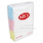 """Nes'sผ้าอ้อมสาลูสีขาวขอบสี 27""""x27"""" /12ผืน"""