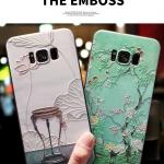 เคสมือถือ Samsung S8plus -เคสซิลิโคนสกรีนลายดอกไม้ [Pre-Order]