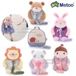 Metoo กระเป๋าเป้สายจูงเด็กกันหลงลายตุ๊กตา