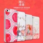 เคสมือถือ iPhone5, 5s-เคสซิลิโคนสกรีนลายการ์ตูน [Pre-Order]