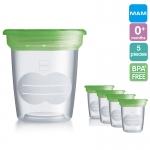 [ถ้วย5ใบ][4oz] MAM ถ้วยเก็บน้ำนม และอาหาร BPA free