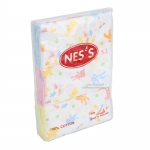 Nes's ผ้าอ้อมสาลูลายหมี 27×27''/6ผืน