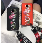Case Huawei Nova 2i เคสนิ่มพิมพ์ลายกุหลาย + สายคล้อง[Pre-Order]