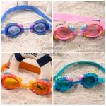 แว่นตาว่ายน้ำซิลิโคนสำหรับเด็กลายปลา Free Size