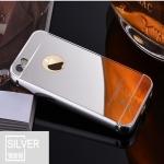 เคสมือถือ iPhone5, 5s-เคสขอบโลหะฝาหลังกระจกเงา+แหวนนิ้ว [Pre-Order]