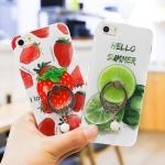 เคสมือถือ iPhone5, 5s-เคสซิลิโคนนิ่มสกรีนลายผลไม้ [Pre-Order]