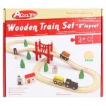 ชุดรางรถไฟไม้ 37 ชิ้น Acool toy