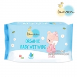 Lamoon กระดาษทิชชู่เปียก ออร์แกนิค ขนาด 20 แผ่น Organic Baby Wet Wipe