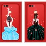 ฟิล์มกระจก Huawei huawei nova 2Plus-ฟิล์มกระจกลายเจ้าหญิง+เคสซิลิโคนสกรีน [Pre-Order]