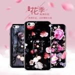 เคสมือถือ iPhone5, 5s-เคสซิลิโคนลายดอกขอบเพชร [Pre-Order]