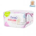 [80แผ่น][1แถม1] Pureen เบบี้ไวพส์ สูตรเซนส์ซิทีฟ Sensitive Baby Wipes Fragrance Free