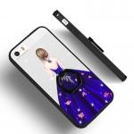 เคสมือถือ iPhone5, 5s-เคสซิลิิโคนขอบดำ ประดับเพชร [Pre-Order]