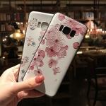 เคสมือถือ Samsung S8plus -เคสซิลิโคนสกรีนลายดอกไม้้นูน3D [Pre-Order]