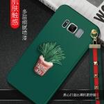 เคสมือถือ Samsung S8plus -เคสซิลิโคนกระบองเพชร+สายคล้อง [Pre-Order]
