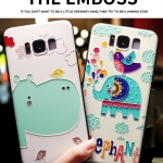 เคสมือถือ Samsung S8plus -เคสซิลิโคนสกรีนลายการ์ตูนนูน3D [Pre-Order]