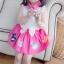 BabyCity ชุดเสื้อพริ้วไหวกระโปรงลายลูกเจี๊ยบ Pink thumbnail 4