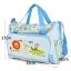 กระเป๋าสัมภาระสีฟ้า ลายสิงโต ลิง จระเข้ thumbnail 3